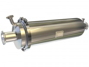 Example of a diesel particulate filter system used for exhaust regeneration.