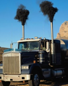 Trucks are one of the most common sources of particulate emissions and black soot.