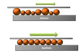 Synthetic diesel engine oils differ from petroleum oils with their uniform molecular structure.