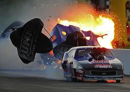 Accidents are one of the biggest pressures of drag racing.