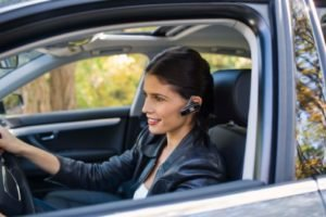 Use a bluetooth earpiece when driving
