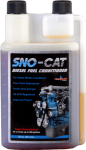 CleanBoost Sno-Cat helps prevent diesel gelling